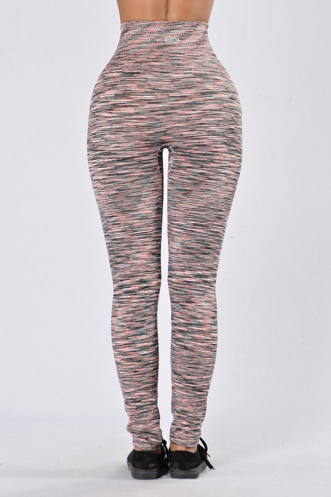 Catch The Rainbow Leggings - Grey/Coral