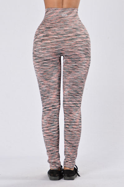 Catch The Rainbow Legging - Grey/Coral