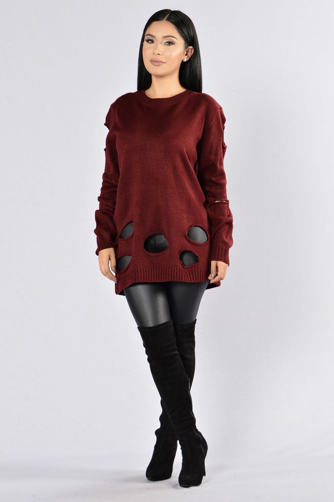 Elm Street Sweater - Burgundy
