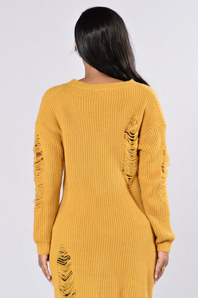 Grazing in the Grass Sweater - Mustard