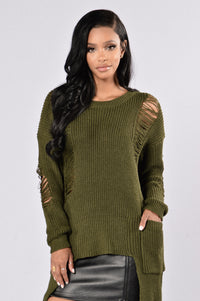 Grazing in the Grass Sweater - Olive