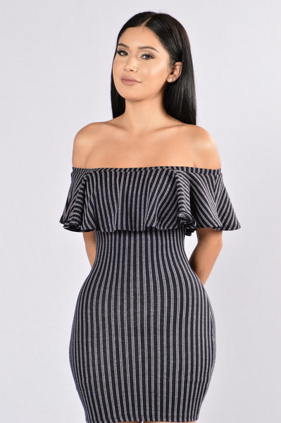 Streamline Dress - Navy