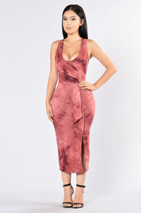Clifford Dress - Burgundy