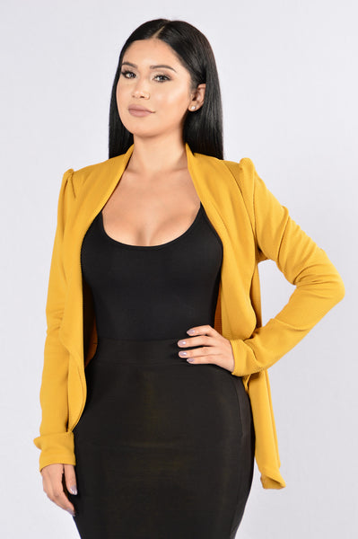 Meet & Greet Blazer - Mustard