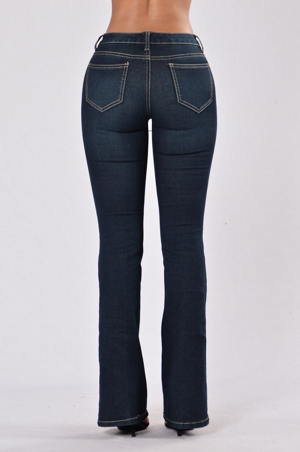 That '70s Trend Jeans - Dark Stone Wash