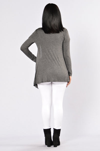 Forever Yours Cardigan - Charcoal
