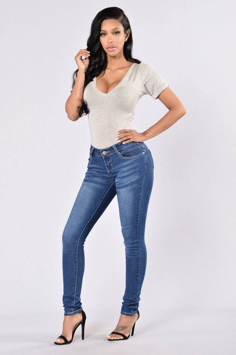 All For You Jeans - Medium Blue