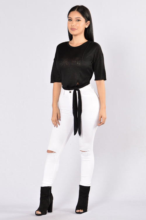 Knot Now Or Ever Top - Black