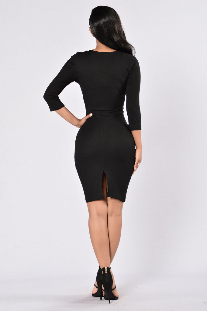Fool Me Twice Dress - Black