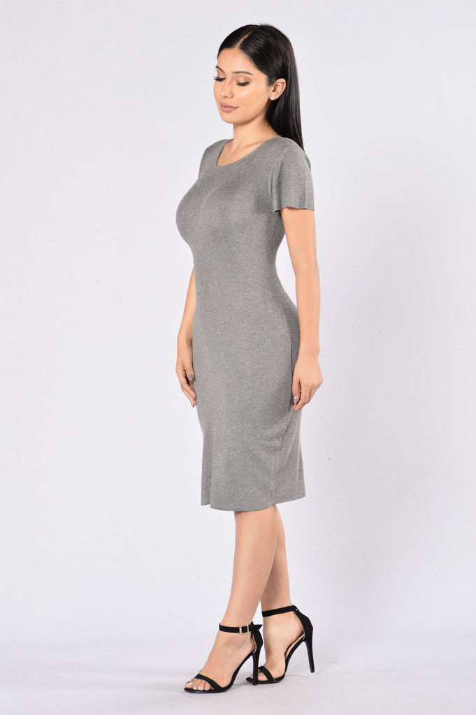 Just My Imagination Dress - Grey
