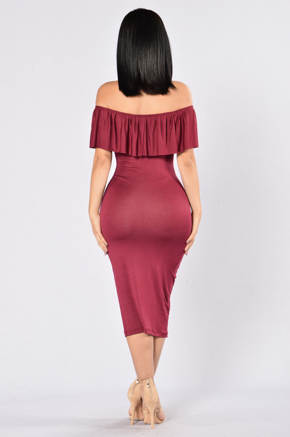 Take The Offensive Dress - Burgundy