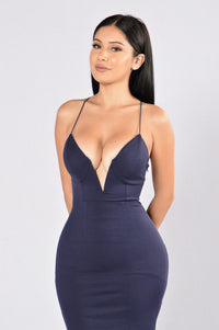 Love To Watch Me Leave Dress - Navy
