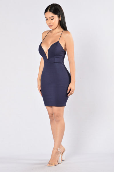 Love To Watch Me Leave Dress- Navy
