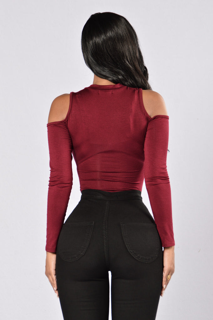 It's Cold Out Here Bodysuit - Burgundy