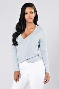 Don't Refuse My Love Top - Light Blue