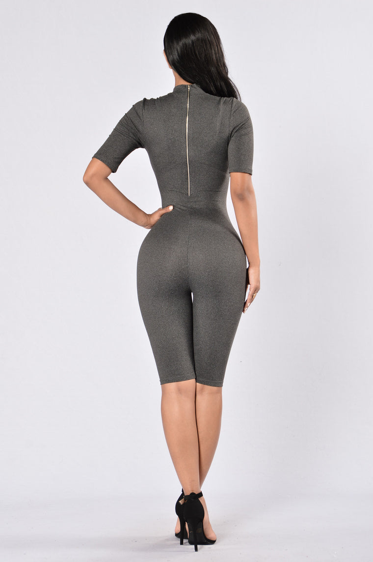 Waylay Jumpsuit - Charcoal