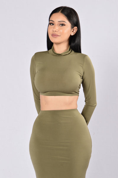 Rock My Body Top - Olive