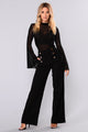 Josie Wide Leg Dressy Pants - Black