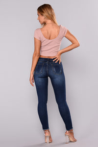 Kimberly Ankle Jeans - Dark Denim