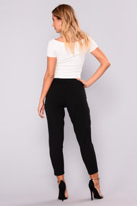 Fabienne Trouser Pants - Black