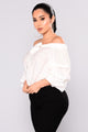 Rufflin Around Off SHoulder Top - Off White