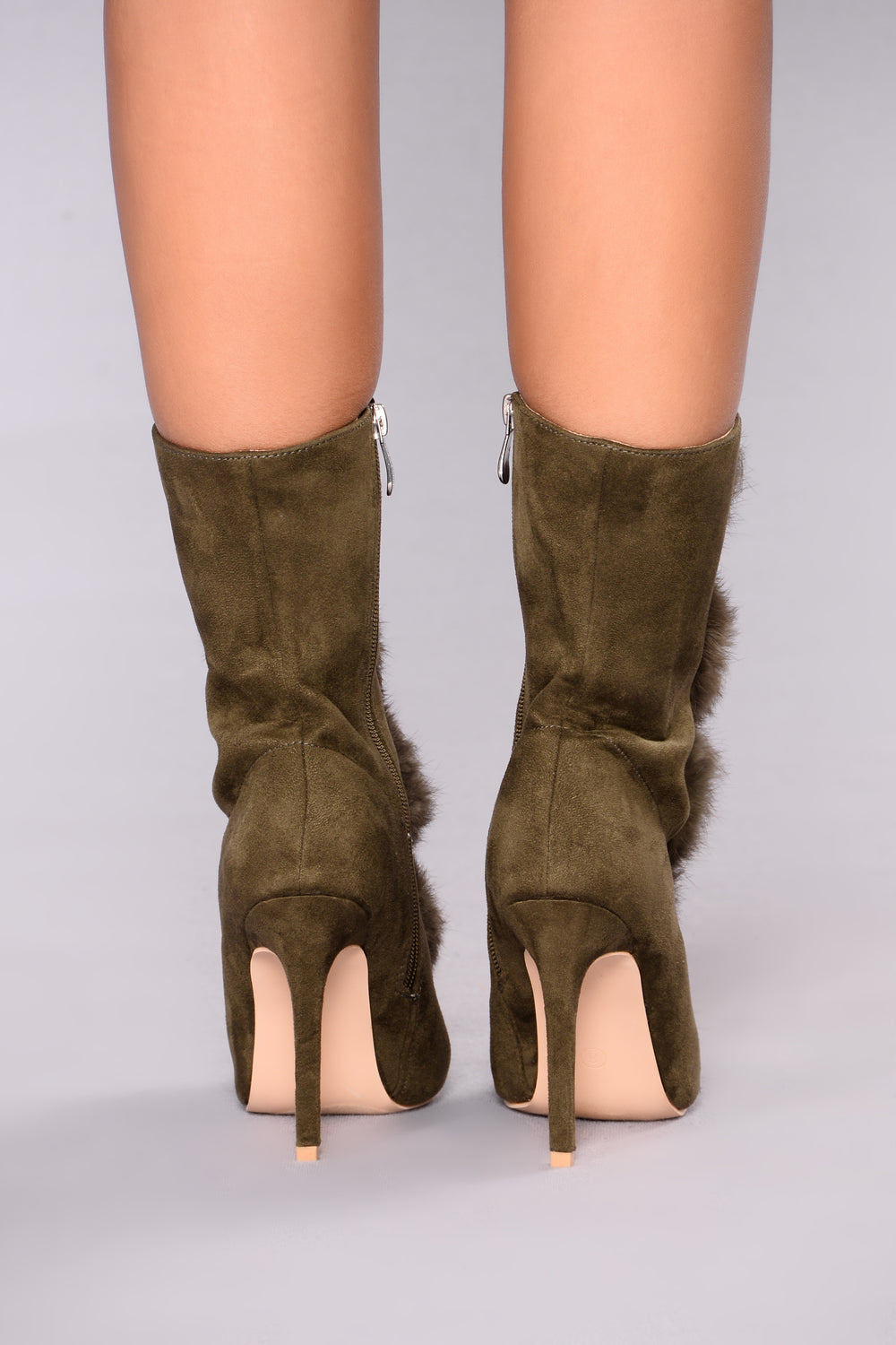 Pom Party Bootie - Olive