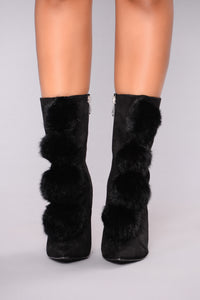 Pom Party Bootie - Black