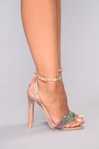 Hello Glitz Heel - Rose Gold Angle 4