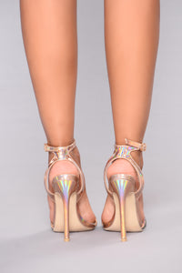 Hello Glitz Heel - Rose Gold Angle 5