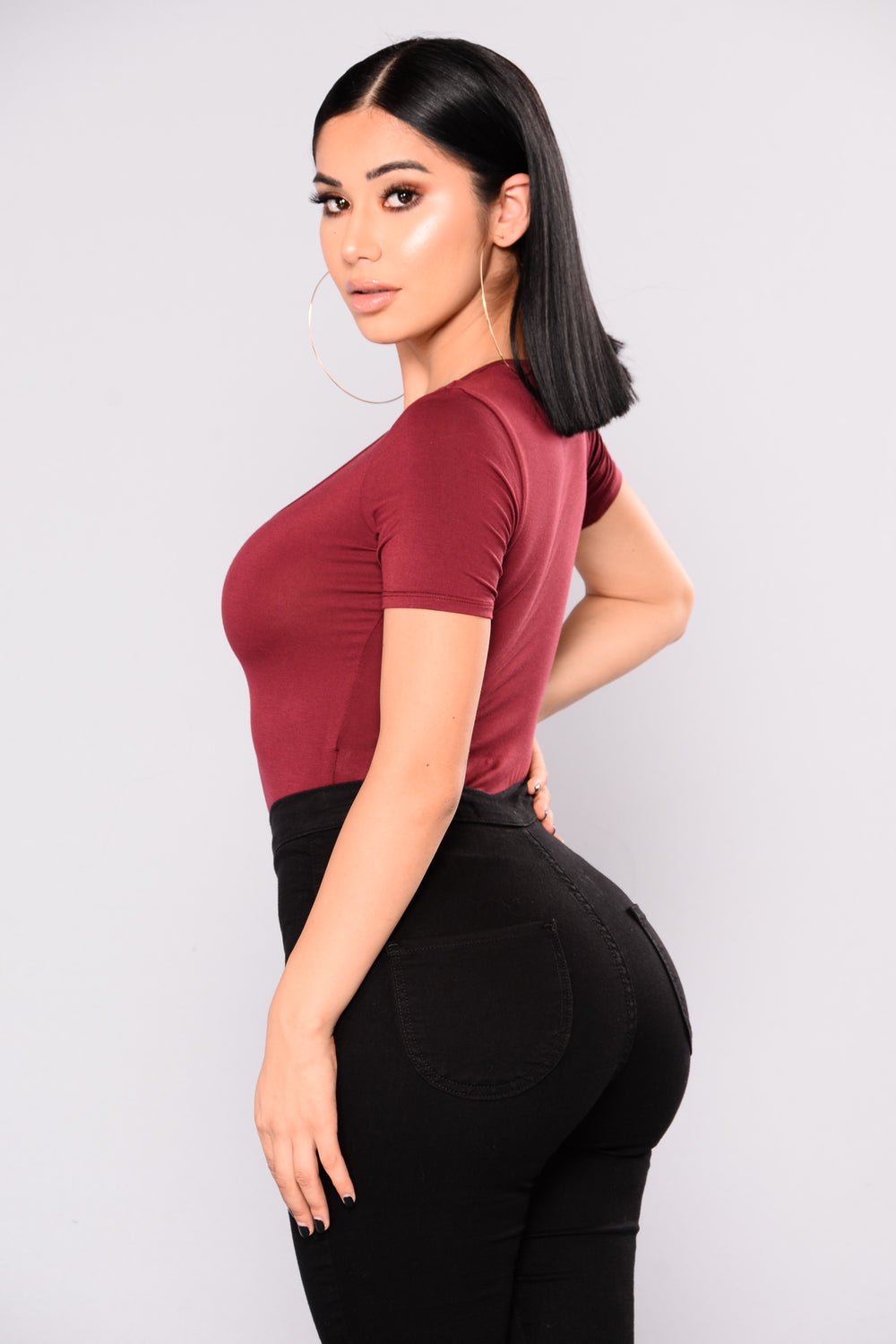 Becky Crop Top - Burgundy