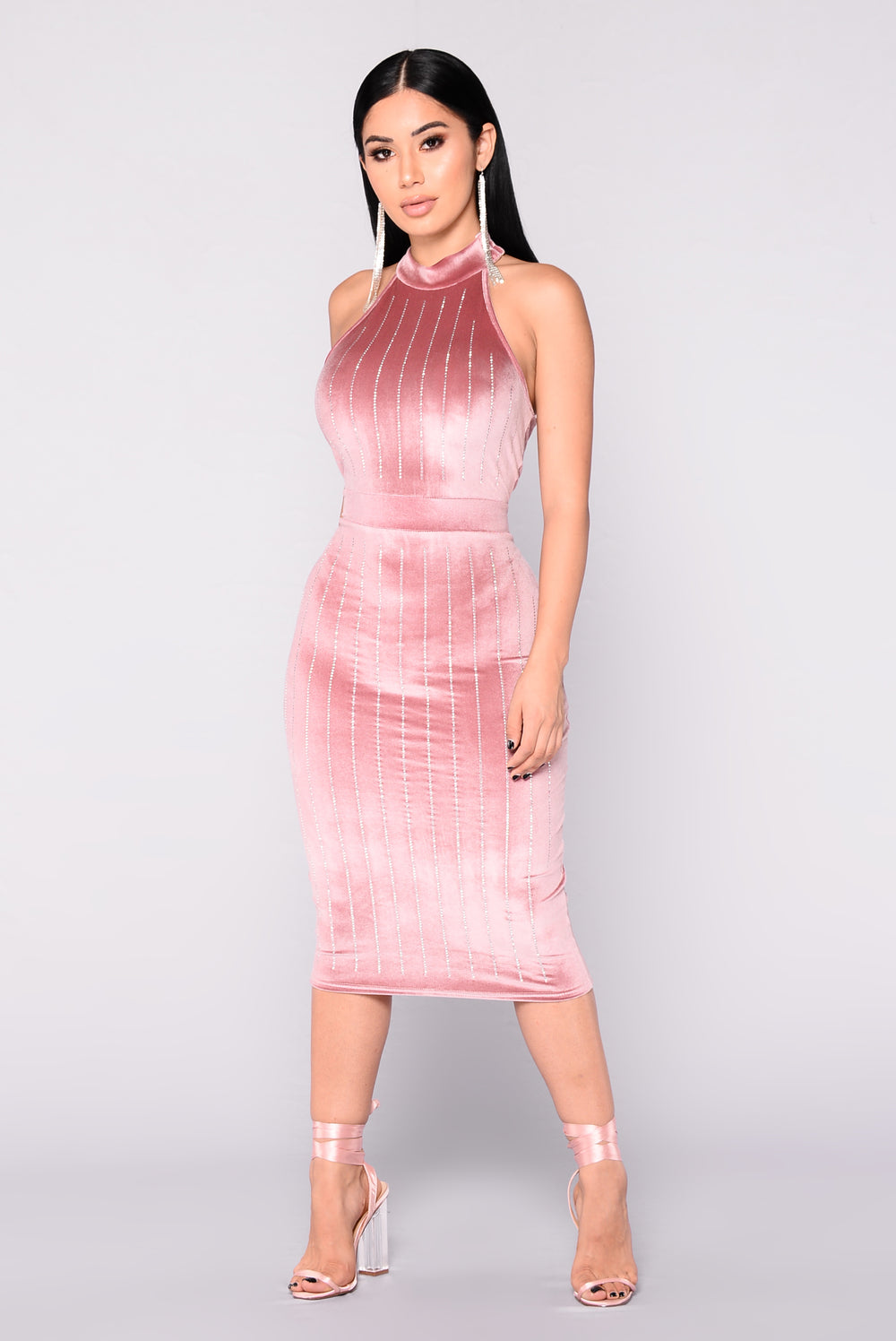 velvet dress blush instant nova dresses