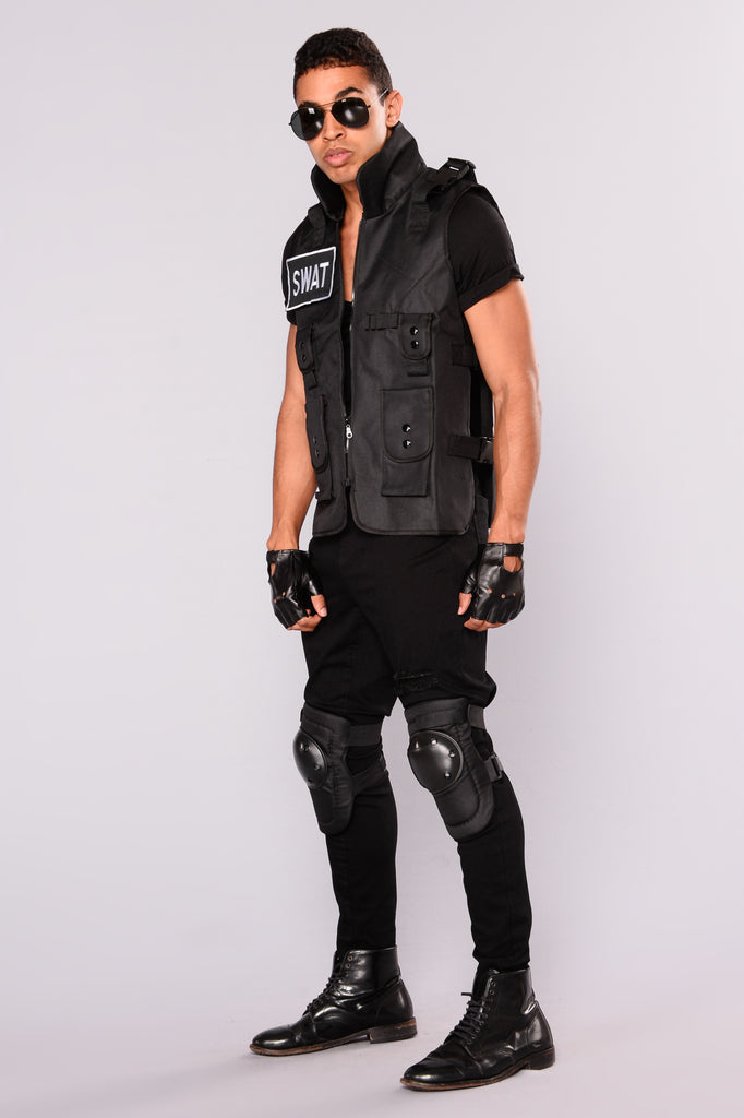 Strong S.W.A.T. 3 Piece Costume - Black