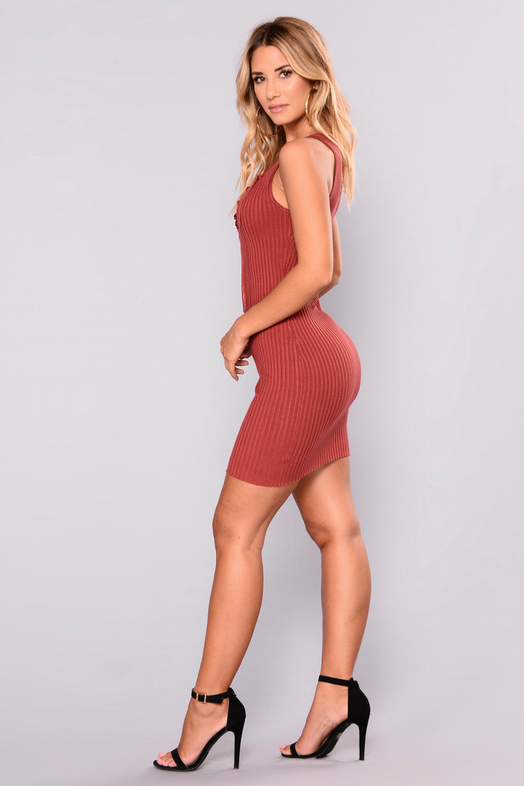 Noely Knit Dress - Marsala