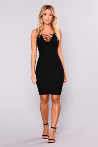 Noely Knit Dress - Black