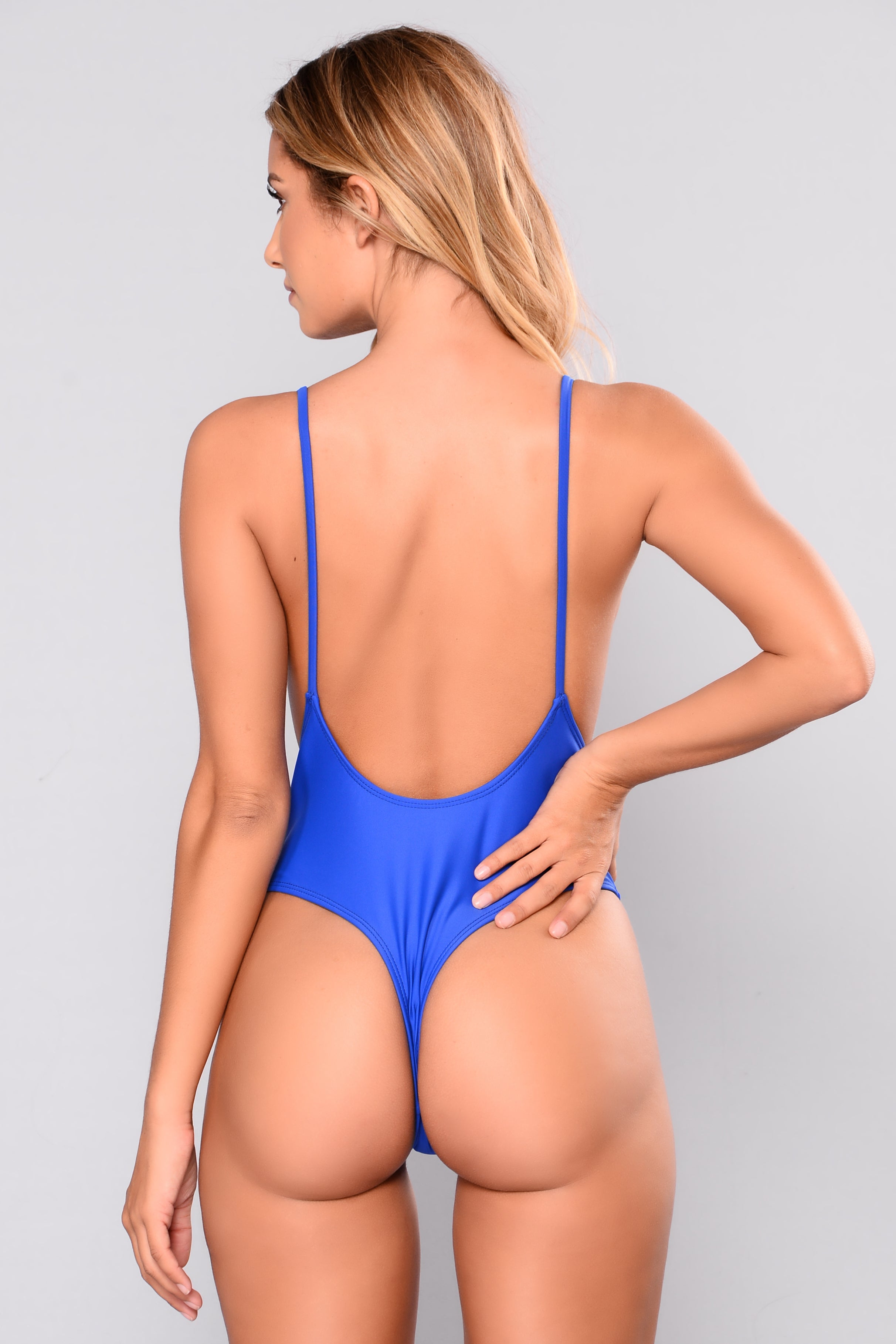 b74723d50f5a5 Making An Impact Thong Swimsuit - Royal