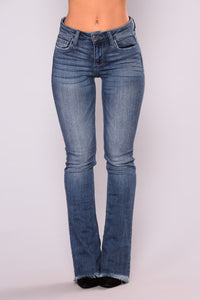 Yessica Flare Jeans - Dark Denim