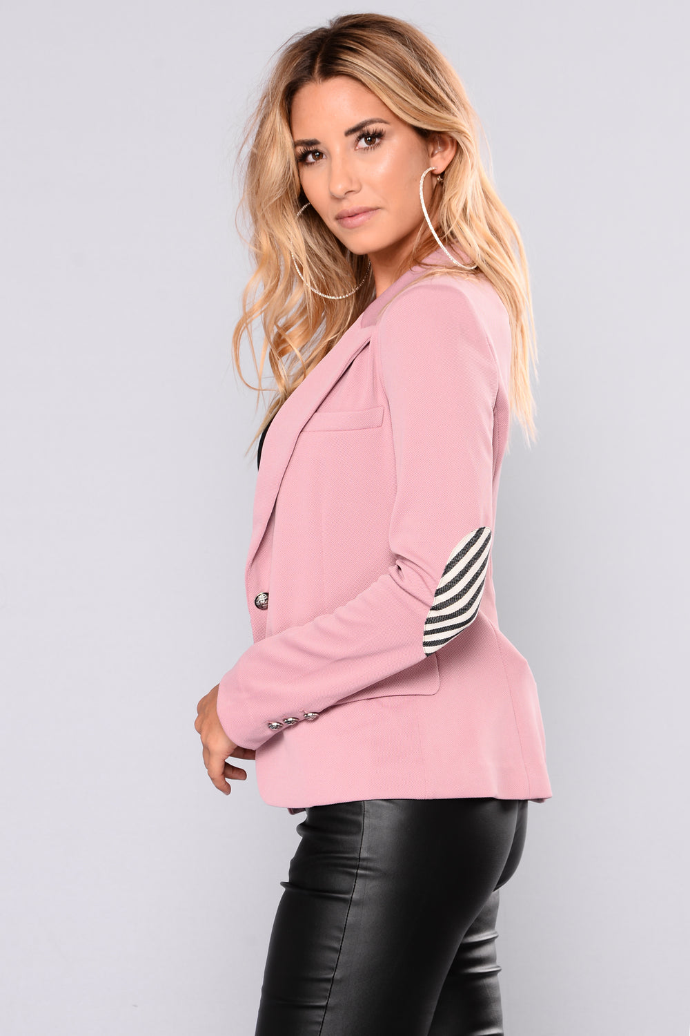 Surrender Your Love Blazer - Mauve