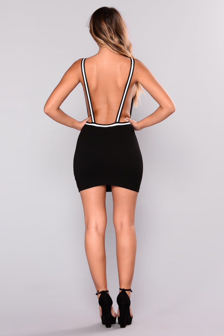 Emerson Backless Dress - Black
