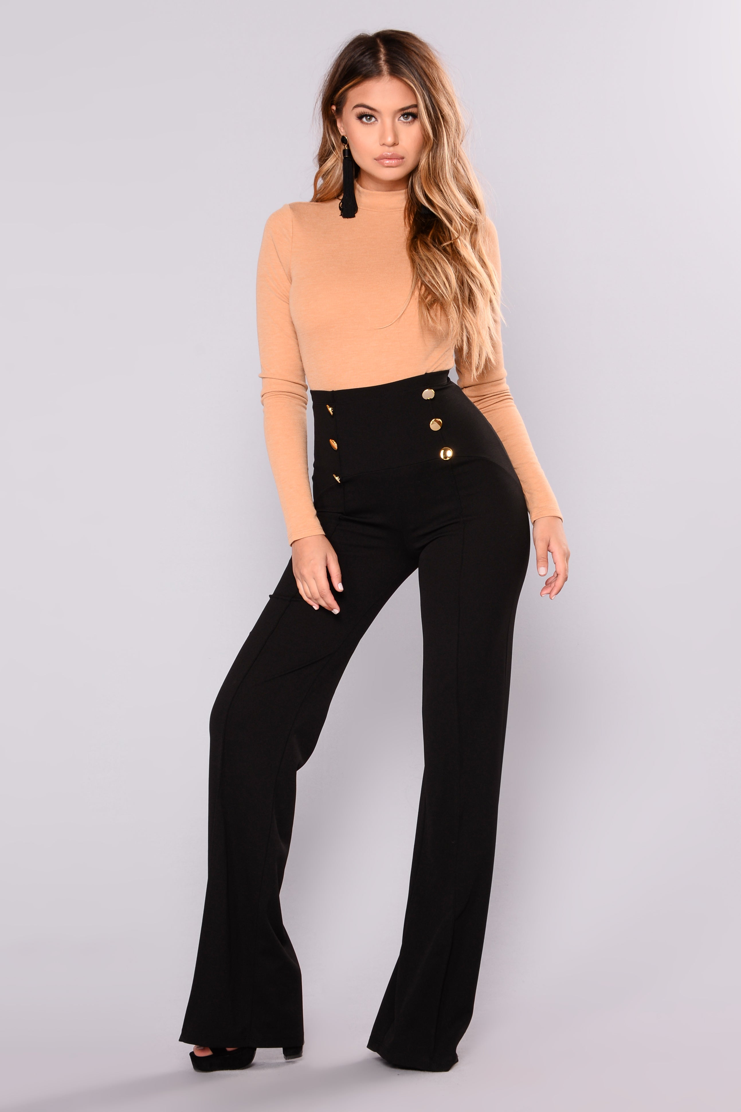 Wide Leg Pants Black C3XDzdOL