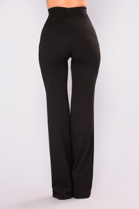 Kira Wide Leg Pants - Black
