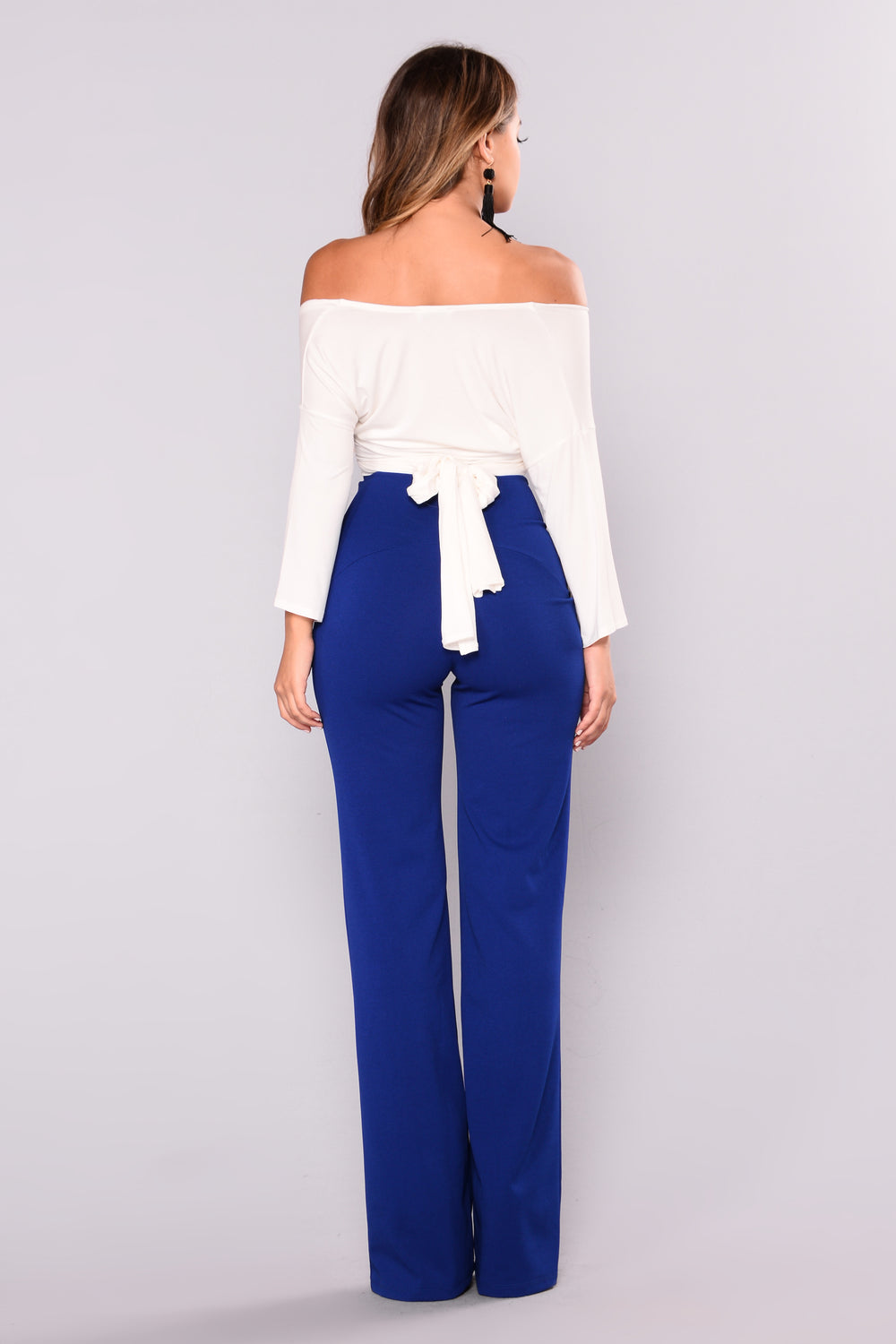 Kira Wide Leg Pants - Royal
