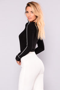 Take It Slow Bodysuit - Black
