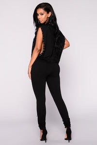 Yvette Motto Jogger - Black