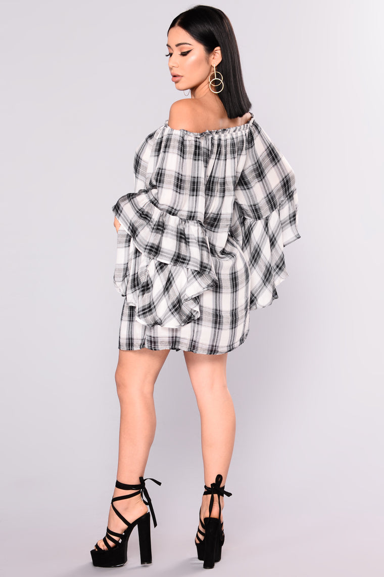 Plaid Influence Dress - Black