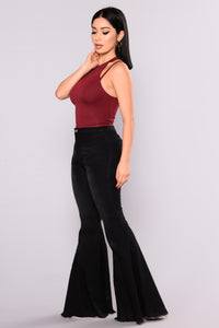 Swept Away Halter Top - Burgundy