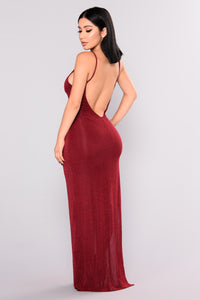 Cosmic Love Maxi Dress - Burgundy