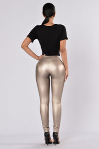 Cater To You Pants - Gold