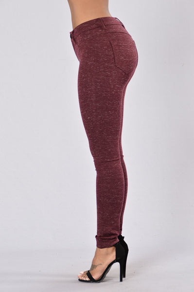Everyday Legging - Burgundy Slub