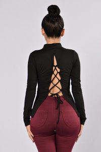 Pull Apart Top - Black Angle 1