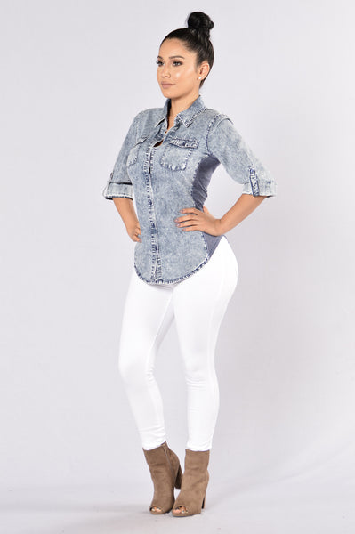 Shape Up Top - Denim